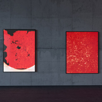 exhibition view translucent gold